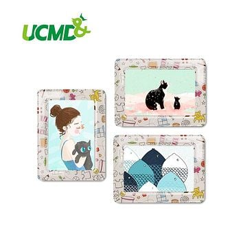3 Pieces / Set Magnets Lovely Cartoon Picture Frames