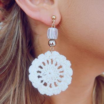 Telling Secrets Earrings: Ivory