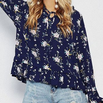 Full Wing Floral Top
