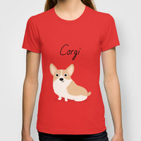 Corgi T-shirt by Cassandra Gibbons