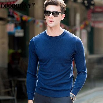 Winter Knitted Cashmere Sweaters Christmas Merino Wool Sweater Men Casual Pure Color O-Neck Pullover Men