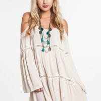 Boho Babe Dress - Cream - Pre-Order