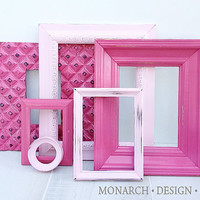 Pinks Collection - Wall Gallery - Upcycled Set Of 6