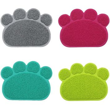 Paw Print Cat Door Mat Or Litter Mat