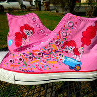 Pinkie Pie Party Cannon Confetti Burst Custom Painted Shoes