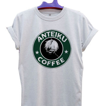 Anteiku Starbucks Kaneki Ken Logo T-Shirt Men, Women and Youth size S-2XL