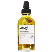Nourishing Oil for Face Body Hair Nails- Blend of Evening Primrose, Argan, Jojoba, Sweet Almond, Rosehip with Bergamot, Rose Geranium and Jasmine Essential Oil