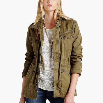 Lucky Brand Ventura Jacket Womens - Army Olive