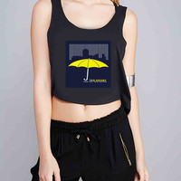 Ted Mosby How I Met Your Mother for Crop Tank Girls S, M, L, XL, XXL *07*