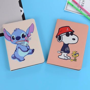 Case For iPad Pro 9.7 For iPad Pro 10.5 Leather Soft Back Cute Cartoon dog Mickey Steve Doraemon Minions Cover Case For Air 1 2