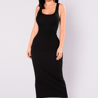 Mulberry Midi Dress - Black