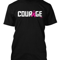 Courage - Breast Cancer Awareness Men's T-shirt