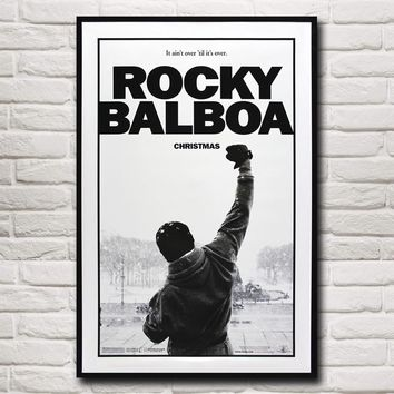 Rocky Balboa Boxing Motivational Quoted Silk  Poster