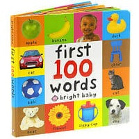 First 100 Words Bright Baby Board Book