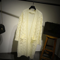 Womens Winter Warm Comfortable Long Mohair Sweater