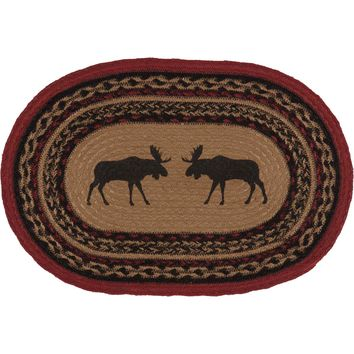 Cumberland Moose Braided Jute Placemat - Set of 6