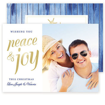 Christian Christmas Card Template ~ Peace and Joy Photo Cards, Christian Photocard, Photoshop Christmas Card Template, Personalized Star