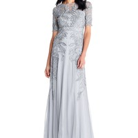 Adrianna Papell Floral Beaded Gown | Dillards