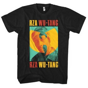 Wu Tang Clan Men's  Rza Duotone Mens Regular T T-shirt Black