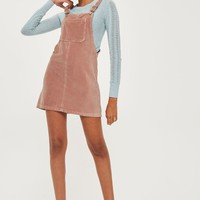 MOTO Velvet Pinafore Dress - Dresses - Clothing