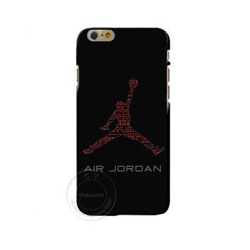 Fly Air Man NBA Brand Michael Jordan PC Hard Cases Cover for iPhone X 4 4S 5 5S SE 5C 6 6S 7 8 Plus