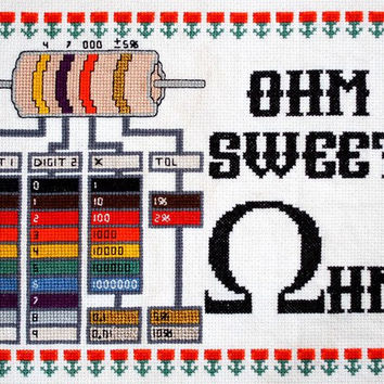 Adafruit Ohm Sweet Ohm Cross-Stitch Kit