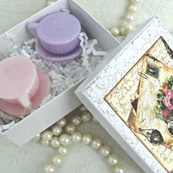 Tea Cup Soap Favors in Gift Box