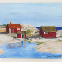 Archipelago of Stockholm original oilpainting