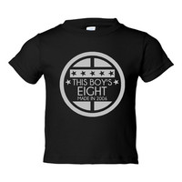 This BOY'S EIGHT Made In 2006 Happy EIGHTH Birthday Printed Graphic Fashion Tee Kids Youth Toddler Infant T Shirt Birthday T Shirt Only Here