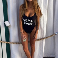 Worst Behavior Fashion Summer Sexy Slim Bodycon Swimsuit Bathing Suit Bikini Beach wear Sunshine = 6002249921