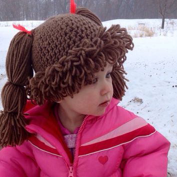 Baby Crochet Cabbage Patch Hat