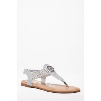 Silver Faux Leather Embellished Thong Sandals @ Cicihot Sandals Shoes online store sale:Sandals,Thong Sandals,Women's Sandals,Dress Sandals,Summer Shoes,Spring Shoes,Wooden Sandal,Ladies Sandals,Girls Sandals,Evening Dress Shoes
