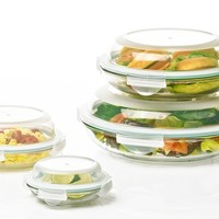 Glasslock Plus Food Storage or Mixing Bowl Sets