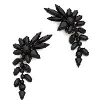 Shay Accessories Clip On Drop Flower Earrings