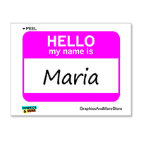 Maria Hello My Name Is Sticker