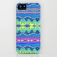 Wavy Stripe iPhone Case by Janet Broxon | Society6