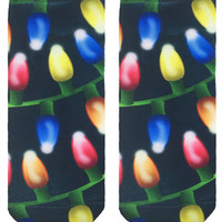 Christmas Lights Ankle Socks