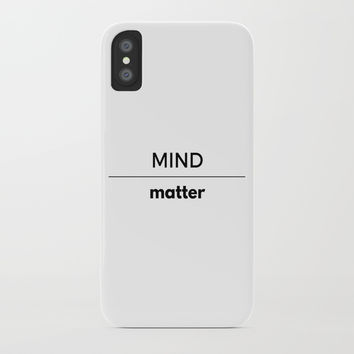 MIND OVER MATTER iPhone Case by Love from Sophie