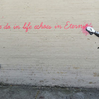 Banksy Echoes In Eternity Quote Poster 11x17