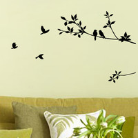 Wall Sticker Removable PVC Baby Kids Wall Posters Sticker Flying Birds Natural Dcore for Home Decoration