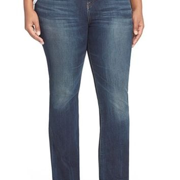 Plus Size Women's Lucky Brand 'Emma' Stretch Bootcut Jeans ,