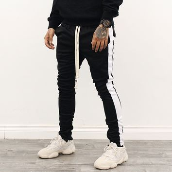 Amari Track Pants (Black/White)