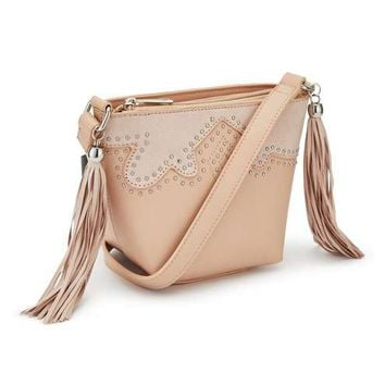 Nude Western Cutwork Cross Body Bag - View All - New In