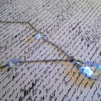 Upcycled Jewelry Chandelier Crystal Necklace