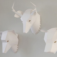 Animal paper mask at twentytwentyone