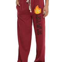 Studio Ghibli Howl's Moving Castle Calcifer Guys Pajama Pants