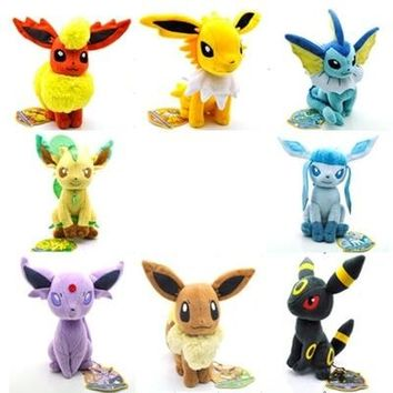 "Pokeball Plush Toys 7"" Sitting Umbreon Eevee Espeon Jolteon Vaporeon Flareon Glaceon Leafeon Plush Doll Kids Toys For Children"