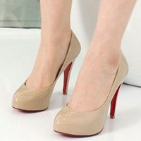 Office Lady Temparement Women Pumps Apricot : Wholesaleclothing4u.com