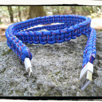 iPhone 5 Paracord Wrapped Charger (blue)