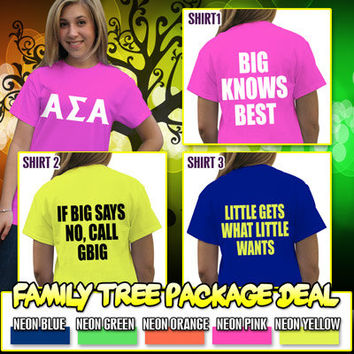 Sorority Family Tree Printed Shirt Package | SomethingGreek.com